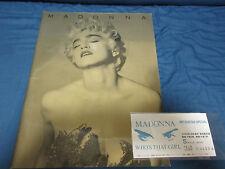 Madonna 1987 Japan Tour Book with Ticket Stub Concert Program