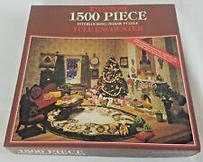 Bits & Pieces 1993 Vintage 1500 Puzzle Yule Encounter Look N Find #030442 Wick