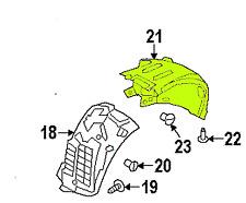 Land Range Rover 13 - 16 OEM Fender Liner Splash Guard LR076772 Rear Left