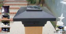 Solar Post Cap Low Profile 4 SMD LED Black 4X4 Vinyl & Wood ( 1 Pack ) PL251B