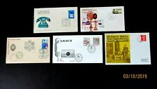 Argentina, Canada, UK, Uruguay, Malta FDC, Communication Cachets, 1970,73,74,79