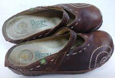 El Naturalista Iggdrasil Brown Mary Jane Clog Slide Mule Women Size 7 Shoe EU 37