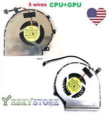 NEW CPU+GPU  Cooling Fan MSI GE62 GL62 GE72 GL72 GP62 GP72 PAAD06015SL 3Pin PAIR