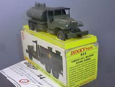 FRENCH DINKY TOYS modèle No.823 GMC MILITAIRE CITERNE VN En parfait état, dans sa boîte