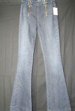 NWT GUESS by MARCIANO DISTRESSED BLUE BELL-BOTTOM JEANS 25 WAIST