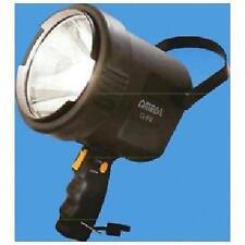 Omega 25518 12 Volt Rechargeable Halogen 500,000 Candle Spot Light 1km New Black