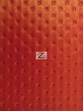 """VINYL FAUX FAKE LEATHER PLEATHER TUFTED LUXURY PRESSED PVC FABRIC - Red - 54"""""""