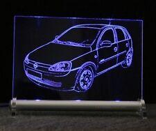 Opel Corsa C als AutoGravur auf LED Leuchtschild
