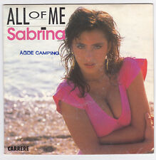 SP 45 TOURS SABRINA  ALL OF ME  CARRERE  14.157 en 1988
