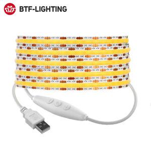 5V USB FCOB LED Light Strip 320 LEDs High Density FOB COB RA90 Flexible Dimmable