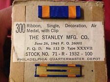 WW2 Air Medal Ribbon Bar set of two WWII World War New old stock  1945