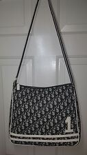 Authentic Christian Dior Black coated canvas Girly bag #1