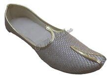 Eid Spacial Indian Men Handmade Khussa Shoe Jute Mojari Punjabi Jutti UK 7