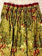 1 Pair JUNGLE Leopard EXOTIC Theme Custom Pleated DRAPES Lined