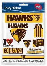 Hawthorn Hawks AFL Footy Stickers Sticker Sheet
