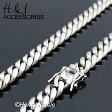 "30""MEN 316L Stainless Steel 7mm Silver Miami Cuban Curb Link Chain Necklace*N154"