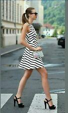 ZARA STRIPED DRESS WITH OPEN BACK. ( SIZE UK M / USA M / EUR M )