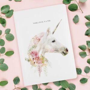 Wild Floral Unicorn Luxury Notebook – Wildlife Fabulous Notes by Lola Design
