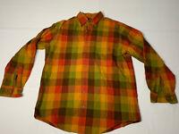 Viyella Mens Size Medium Multicolored Plaid Wool Blend Long Sleeve Shirt