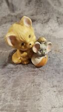 New listing Vintage Ceramic Porcelain Enesco Japan Cat & Mouse with Yarn Ball 1980