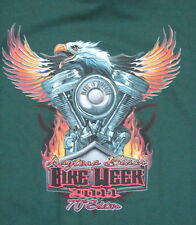 "New 2011 Daytona Beach Bike Week T Shirt Motorcycle ""Made in America"" Eagle (XL)"