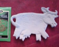 COW TEABAG HOLDER READY TO PAINT  CERAMIC TRAY Spoon DISH made from mold casting