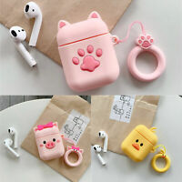 3D Cute Food Cartoon Silicone Airpod Protective Case Cover Skin for Airpods 1/2