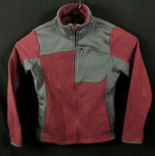 CB SPORTS Stretchy FullZip Knit Fleece Sweater Jacket Womens Small Sporty