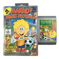 Marko's Magic Football Sega Mega Drive Game In The Case OZI SOFT SILVER