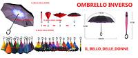 OMBRELLO inverso reversibile antivento colori casuali pioggia ombrello fantasia
