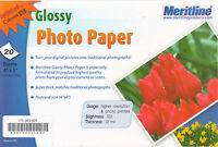 "Glossy Photo Paper 4"" x 6"" for Laser Printer, Brightness 100, 20 sheets per pack"