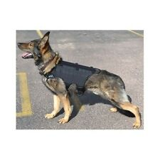 Dog Harness Vest Training Secure Law Enforcement Grade Pet Pad Adjust Black K 9