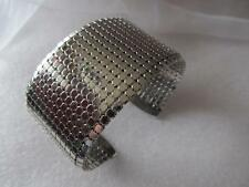 Vintage Mesh Whiting & Davis Silver Cuff Bracelet Unsigned