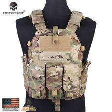 Tactical 094K Plate Carrier Vest EMERSON Molle M4 Pouch CORDURA MultiCam 7356
