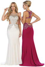 NEW STRETCHY SEXY EVENING GOWN SEMI FORMAL PROM QUEEN DESIGNER DANCE PARTY DRESS