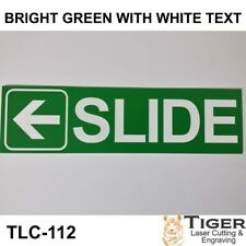 SLIDE WITH LEFT ARROW GRAPHIC SIGN FOR SLIDING OR AUTOMATIC DOORS - 18CM X 5CM