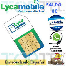 Sim card/micro/nano lycamobile prepaid 0 € (no balance), numbers new!!!