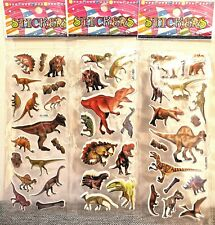 Dinosaur Stickers Vinyl Loot Bag Birthday Party 10 sheets