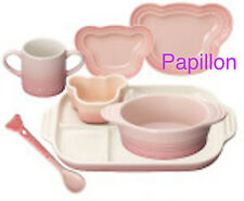 Le Creuset stoneware Baby Tableware Set Milky Pink with Tracking Number NEW