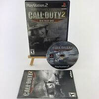 Call of Duty 2 Big Red One Collector's Edition Sony PlayStation 2 2005 w/ Manual