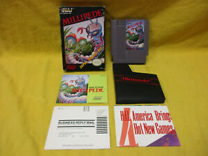 Millipede (Nintendo Entertainment System, 1988) COMPLETE IN BOX TESTED NES