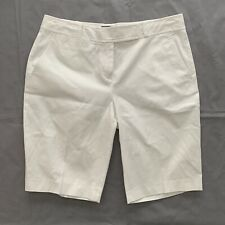 Talbots Women's Petite Bermuda Shorts Size 8P White Cotton Blend