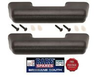FORD FALCON XA XB BLACK FRONT OR REAR ARM REST PAIR (2)