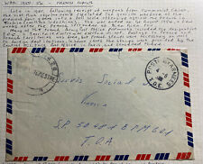 1953 French Army PO In VietNam Wars Airmail Cover to Vienna Austria