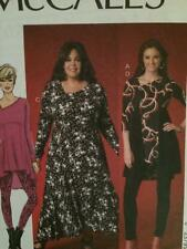 McCalls Sewing Pattern 7028 Ladies Misses Dress Tunic Leggings Size 18w-24w UC