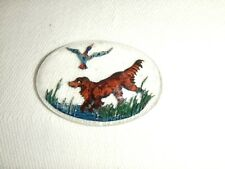 Unmounted Essex Crystal Glass Cabochon ~ Hunting Dog/Setter/Retriever Design