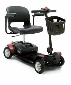 NEW Red Pride Go Go Elite Traveller Travel Mobility Scooter 12ah