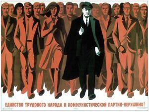 Propaganda Communism USSR Lenin Icon Red Soviet Large Poster Print