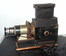 ANTIQUE METAL & WOOD MAGIC LANTERN ELECTRIC SLIDE PROJECTOR PROJECTION CAMERA