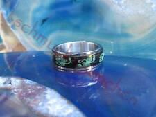 Ring Skorpion nachtleuchtend Drehring Spinner Ring Edelstahl Gr 18